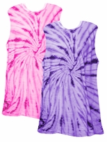 SOLD OUT! Tiedye T-Shirts! Be a Passionate Purple or a Hot Hot Hot Pink Swirl Girl! Tie Dye Tanks Size 3x 4x