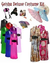 CLEARANCE! Beautiful Geisha Costume - Black Floral - Plus Size & Supersize 3x