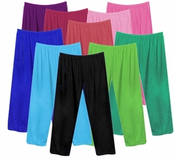 FINAL CLEARANCE SALE! Poly/Cotton Plus Size & Supersize Straight, Long Tapered or Capri Pants LG 0x 1x 2x