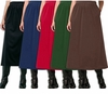 SOLD OUT! Black, Red, Brown, Evergreen, or Navy Velvet Plus Size Skirt 3x