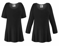 FINAL CLEARANCE SALE! Plus Size Black Slinky Top XL 0x 3x 4x