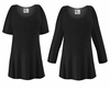 FINAL CLEARANCE SALE! Plus Size Black Slinky Top XL 0x 1x 2x  6x