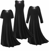 CLEARANCE! Black Slinky Plus Size & Supersize Short or Long Sleeve Dresses 0x 6x
