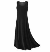 FINAL CLEARANCE SALE! Plus Size Black Slinky or Spandex Tank Dress 0x
