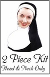 SALE! Black & White Head Piece & Neck Piece Kit Only! (No Dress)