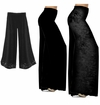 CLEARANCE! Black Slinky, Cotton, or Velvet Wide Leg Palazzo Pants M XL 0x 1x 3x Petite & Tall  xl 0x 7x 8x 9x