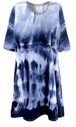 SOLD OUT!  Blue Seas Tie Dye Plus Size & Supersize X-Long T-Shirt