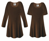 FINAL CLEARANCE SALE! Plus Size Brown Slinky Top LG XL 0x