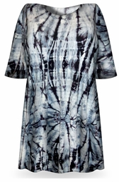 SALE! Charcoal Hurricane Tie Dye Plus Size T-Shirt + Add Rhinestones L XL 2x 3x 4x 5x 6x