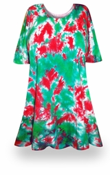 SALE! Christmas Heaven Tie Dye Supersize X-Long Plus Size T-Shirt + Add Rhinestones 0x 1x 2x 3x 4x 5x 6x 7x 8x