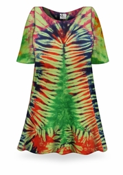 SALE! Christmas Tree Tie Dye Supersize X-Long Plus Size T-Shirt + Add Rhinestones 0x 1x 2x 3x 4x 5x 6x 7x 8x