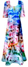 SOLD OUT! Color Splash Tie Dye Plus Size & Supersize Short Sleeve Dress 0x