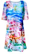 CLEARANCE! Color Splash Tie Dye Plus Size T-Shirt XL