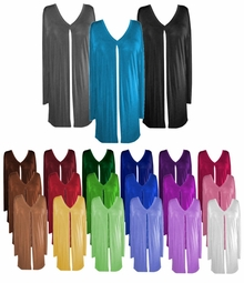 SALE! Comfy and Casual Solid Colors Plus-Size Slinky Tie Duster Jacket 0x 2x 4x