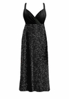 SALE! Customizable Gorgeous Onyx Black Glimmer or Velvet Plus Size Slinky Black Empire Waist Dress 0x 1x 2x 3x 4x 5x 6x 7x 8x