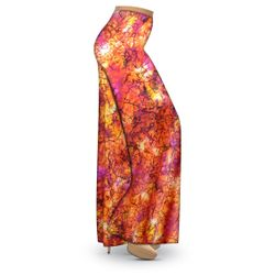 SALE! Customizable Orange Crackle Slinky Print Plus Size & Supersize Palazzo Pants - Tapered Pants - 2x