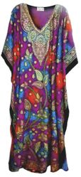 SALE! Customizable Paisley Print Long Plus Size Caftan Dress or Shirt 1x-6x