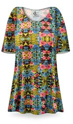 CLEARANCE! Paradise Print Plus Size & Supersize Extra Long T-Shirts 0x 3x 6x 7x