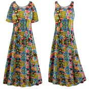 CLEARANCE! Customizable Paradise Print Plus Size & SuperSize Princess Cut Poly/Cotton Jersey Dress 0x