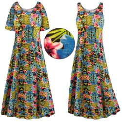 SALE! Customizable Paradise Print Plus Size & SuperSize Princess Cut Poly/Cotton Jersey Dress 0x 1x