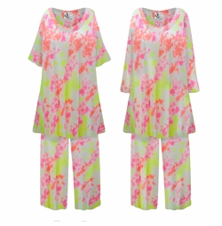 SALE! Customizable Plus Size Watercolor Tie-Dye Print Ultra Soft Brushed Poly Blend 2 Piece Pajama Pant Set 0x 1x 2x 3x 4x 5x 6x 7x 8x 9x