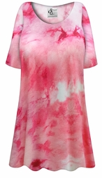 SOLD OUT! Customizable Plus Size Cotton Candy Marbled Print Extra Long Poly/Cotton T-Shirts 5x