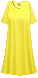 SALE! Customizable Plus Size Daffodil Yellow LIGHT WEIGHT Sleep Gown - Muumuu - Moo Moo Dress 0x 1x 2x 3x 4x 5x 6x 7x 8x 9x
