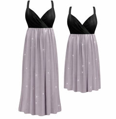 SALE! Customizable Plus Size Lavender Shimmer Slinky Empire Waist Dress 0x 1x 2x 3x 4x 5x 6x 7x 8x