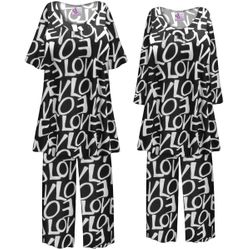 SALE! Customizable Plus Size LOVE Print 2 Piece Pajama Pant Set 8x