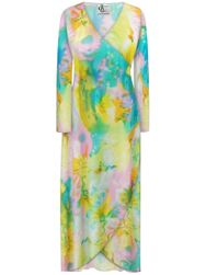 SALE! Customizable Plus Size Pastel Abstract Slinky Print Cascading Wrap Dresses or Jackets Lg Xl 0x 1x 2x 3x 4x 5x 6x 7x 8x