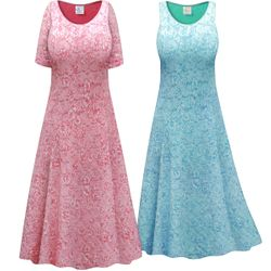 SALE! Customizable Plus Size Pink or Blue Lace Lined Princess Cut Dress 0x 1x 2x 3x 4x 5x 6x 7x 8x 9x