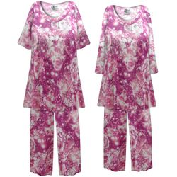 NEW! Customizable Plus Size Purple Galaxy Print 2 Piece Pajama Pant Set 0x 1x 2x 3x 4x 5x 6x 7x 8x 9x