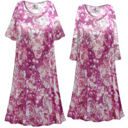 NEW! Customizable Plus Size Purple Galaxy Print Sleep Gown - Muumuu - Moo Moo Dress 0x 1x 2x 3x 4x 5x 6x 7x 8x 9x