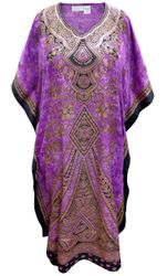 SALE! Customizable Plus Size Purple Marble Floral Print Long Caftan Dress or Shirt 1x-6x