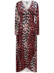 SALE! Customizable Plus Size Red Leopard SLINKY Print Cascading Wrap Dresses or Jackets Lg Xl 0x 1x 2x 3x 4x 5x 6x 7x 8x