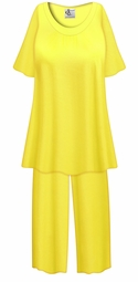 SALE! Customizable Plus Size Daffodil Yellow LIGHT WEIGHT 2 Piece Pajama Pant Set 0x 1x 2x 3x 4x 5x 6x 7x 8x 9x