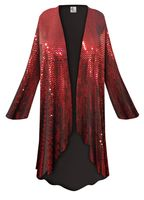 SOLD OUT! SALE! Customizable Red Moon Slinky Print Plus Size & Supersize Jackets & Dusters - Sizes Lg to 9x