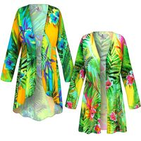 SOLD OUT! SALE! Customizable Tropical Gardens Slinky Print Plus Size & Supersize Jackets & Dusters - Sizes Lg to 9x