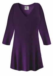 FINAL CLEARANCE SALE! Plus Size Purple Slinky Top Lg 5x
