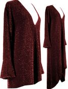 SOLD OUT! Dazzling Burgundy Glimmer Plus Size A/Line Shirts & Jackets 5x