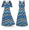 SOLD OUT! CLEARANCE! Dazzling Chevrons Slinky Plus Size & Supersize A-Line Dresses 5x