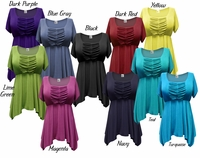 FINAL CLEARANCE SALE! Gorgeous Colorful Slinky Solid Colors Supersize & Plus Size Babydoll Tops 0x 1x 3x 4x