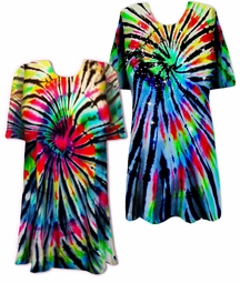 SALE! Midnight Prism Tie Dye Plus Size T-Shirt XL 2x 3x 4x 5x 6x