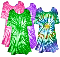 SALE! Vivid Swirl Tie Dye Plus Size & Supersize X-Long T-Shirt 0x 1x 2x 3x 4x 5x 6x 7x 8x