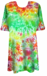 SALE! MANY COLORS! Marble Tie Dye Sparkly Kittens Rhinestuds Plus Size T-Shirt XL 2x 3x 4x 5x 6x