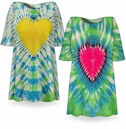 SALE! Dragon Heart Tie Dye Plus Size T-Shirt L XL 2x 3x 4x 5x 6x