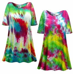 SALE! Heavy Colorful Tie Dye Plus Size Supersize X-Long T-Shirt 1x 2x 3x 4x 5x 6x 7x 8x