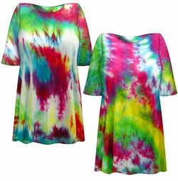 SALE! Heavy Colorful Tie Dye Plus Size T-Shirt XL 2x 3x 4x 5x 6x