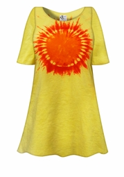 SALE! Hello Sunshine Tie Dye Plus Size & Supersize X-Long T-Shirt 0x 1x 2x 3x 4x 5x 6x 7x 8x