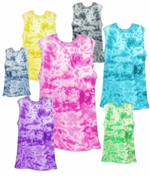 SALE! Hot! Marbled Tiedye T-Shirt Tanks in Many Colors! Pink Blue Green Yellow Black Navy Purple Tank Tops 2x